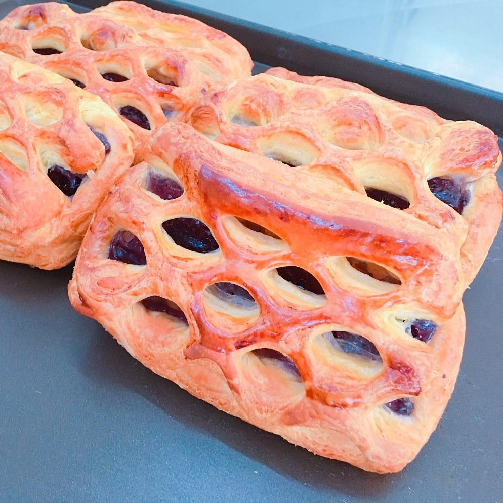 丹麥千層藍莓-台中梧棲麵包店推薦